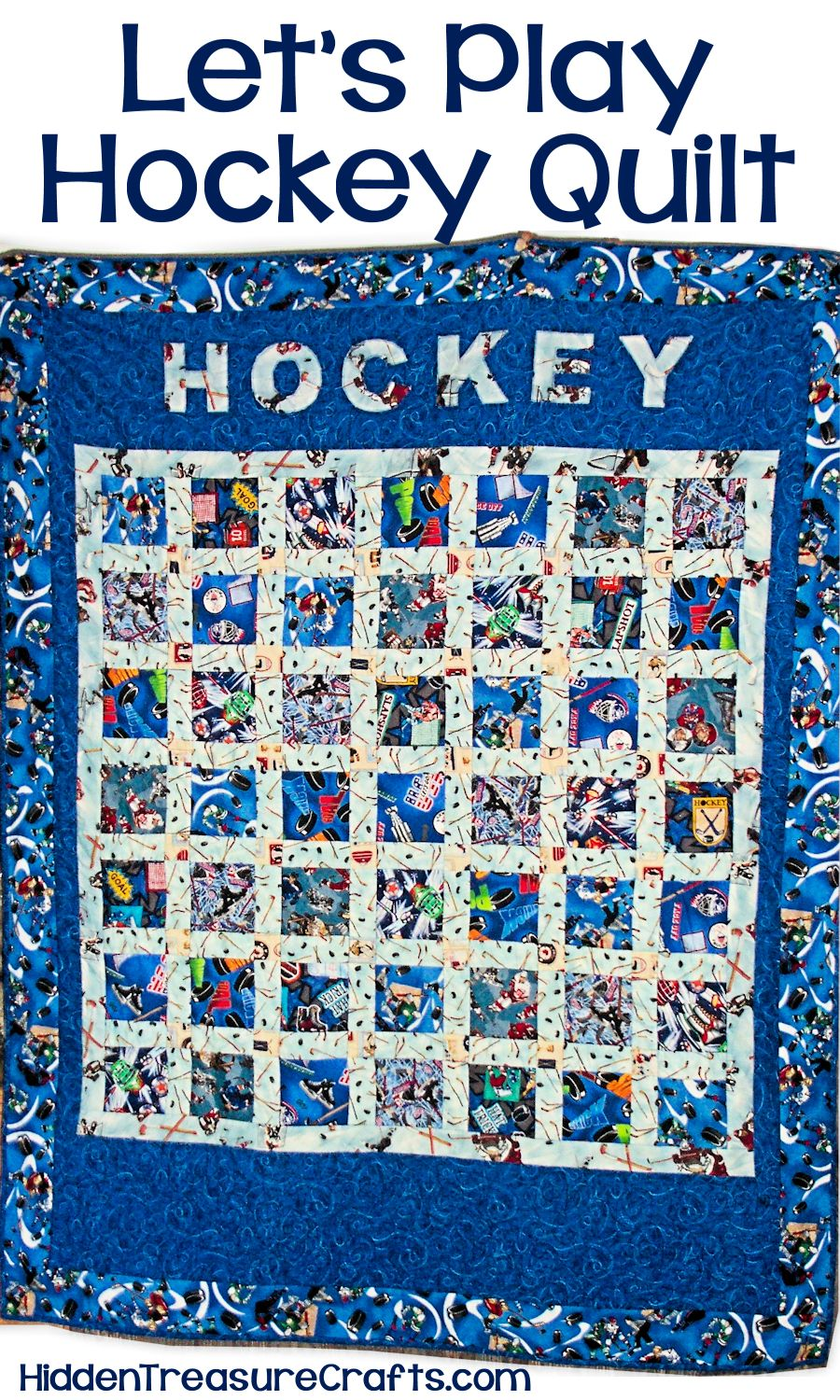 Lets Play Hockey Quilt