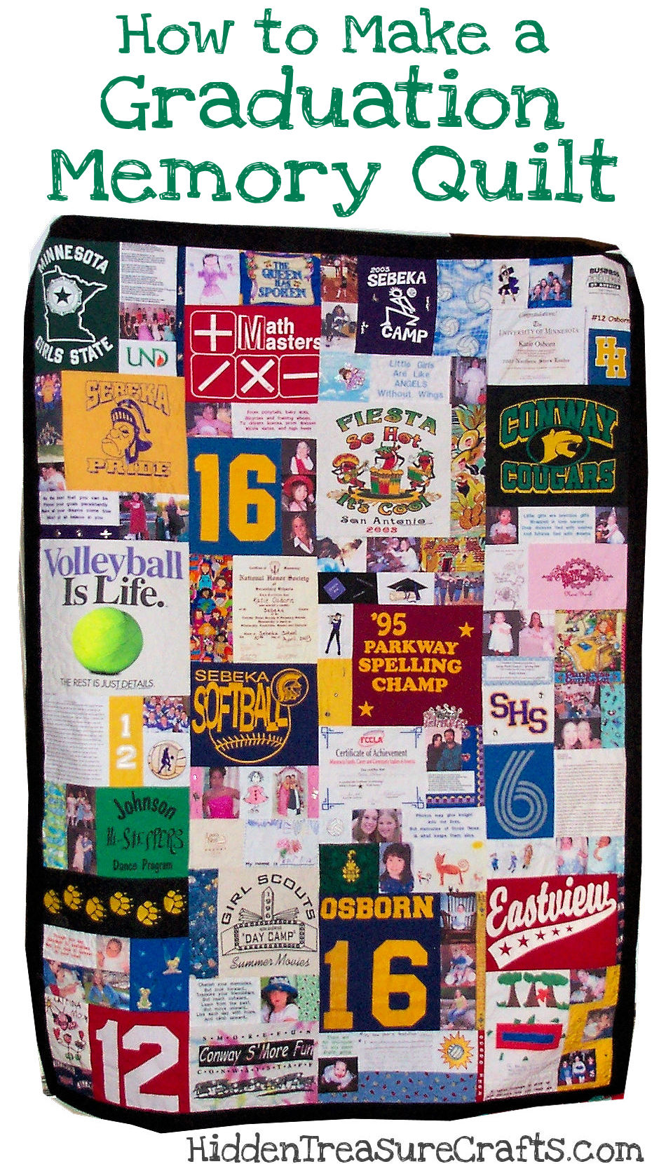 How To Make A Graduation Memory Quilt