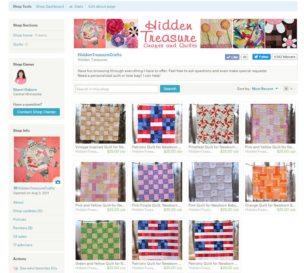 A Collection of Mini Quilts and my Etsy store