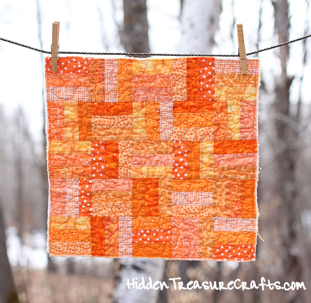 Orange Quilt for Newborn Baby Photography Prop