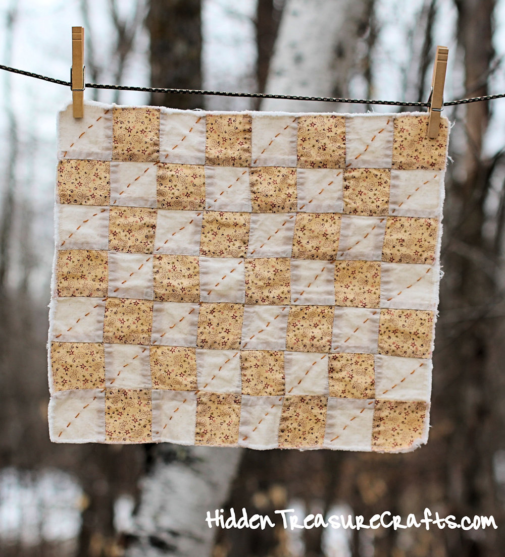 Vintage Inspired Quilt for Newborn Baby Photography Prop
