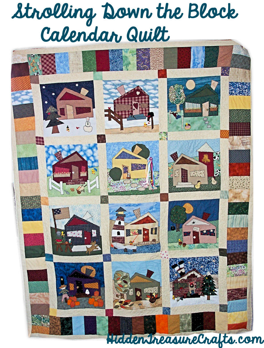 Strolling Down the Block Calendar Quilt