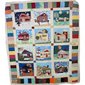 18 Strolling Down the Block Calendar Quilt