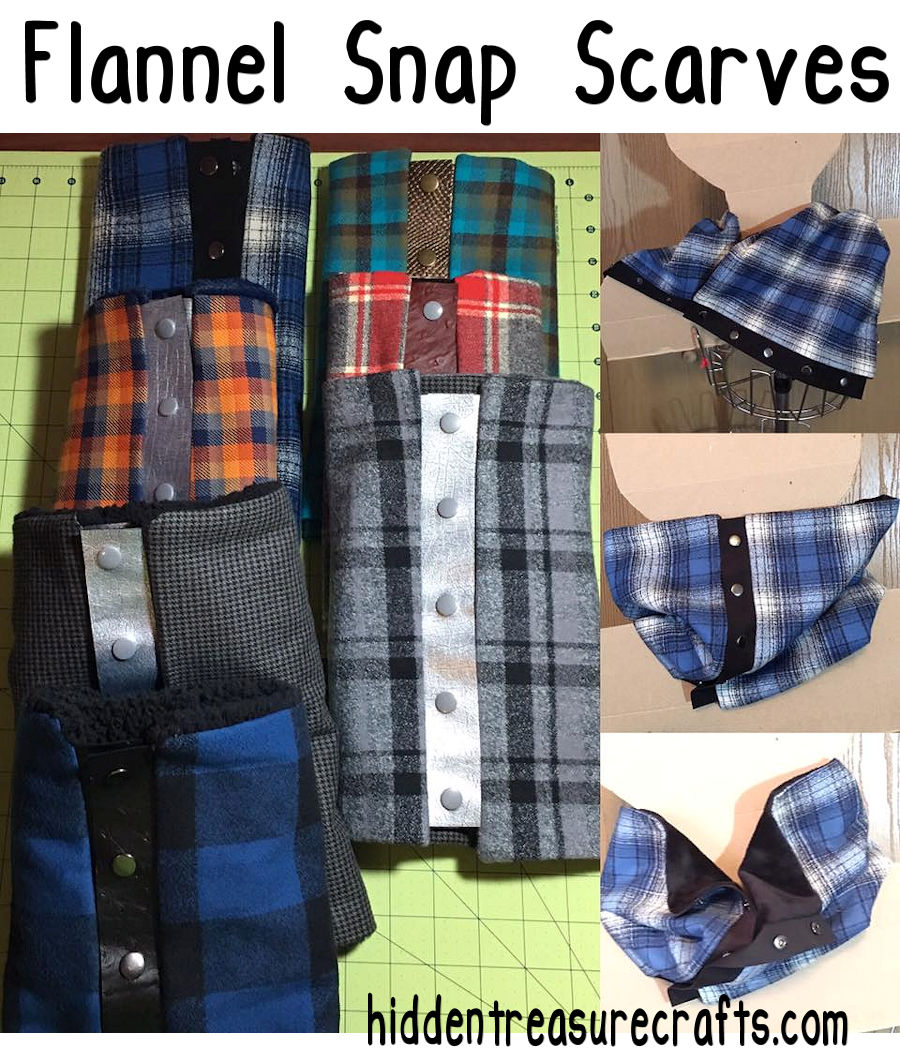 How to Make Flannel Snap Scarves
