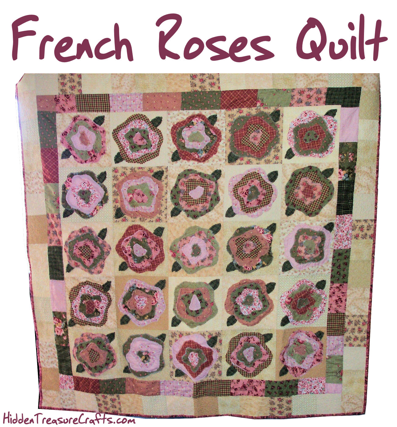 French Roses Quilt by Heather French